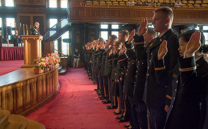 Graduates take oath as newly commissioned ROTC officers